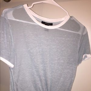 Teal t-shirt from Forever 21